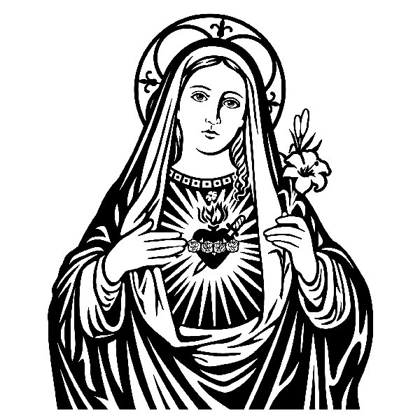 Wandtattoo Jungfrau Maria | WebWandtattoo.com